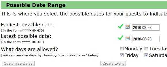 meeting date picker