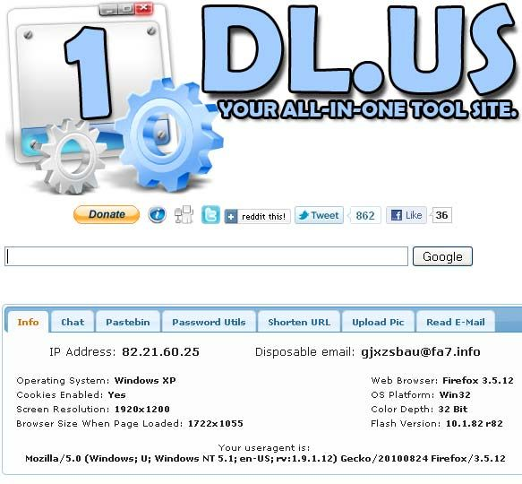 1dlus   1dl.us: Quick Access To Useful Online Services