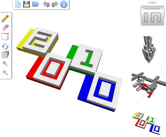 3ddrawing   3DTin: 3D Pixel Drawing Program Online