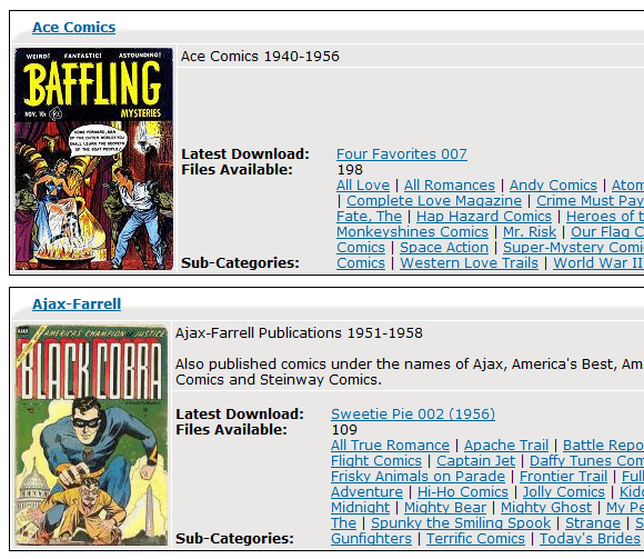 free downloadable comics