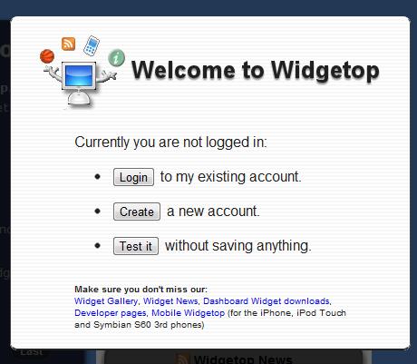 widget dashboard mac