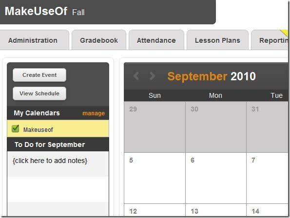 LearnBoost: Online Teacher Gradebook With Lots Of Features Calendar