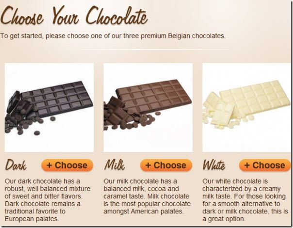 Choose   Chocomize: Create & Order Customized Chocolate Bar