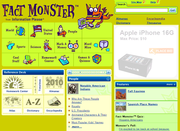5 Free Online Encyclopedias Suitable For Kids Fact Monster