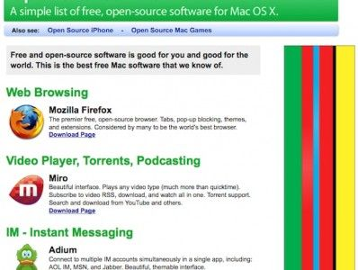 11 Online Sources For The Best In Mac Freeware [Mac] OpenSource