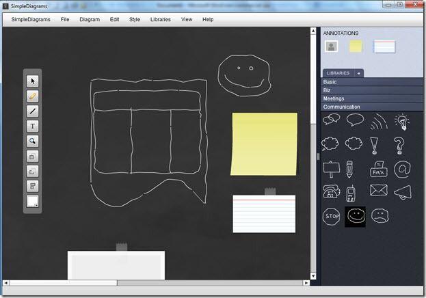 Tools1   SimpleDiagrams: Cool Diagram Drawing Software