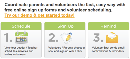 volunteer online sign up