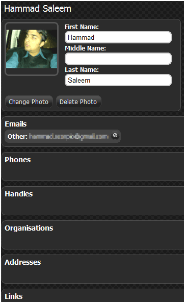 online contacts manager