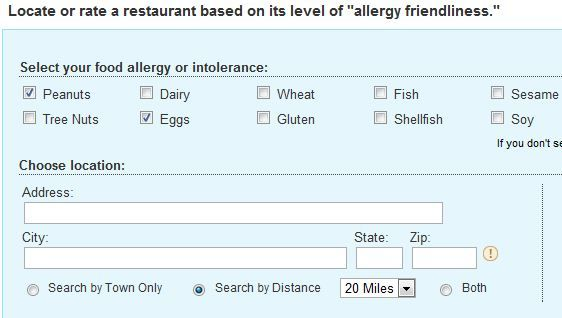 allergy friendly restaurants