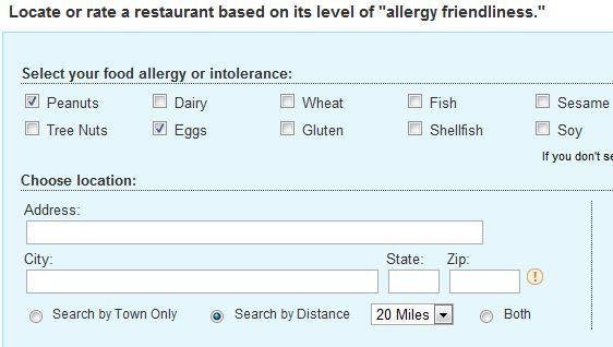 allergy friendly restaurants