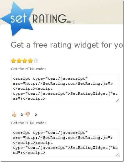 add ratings to website