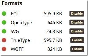 web font hosting