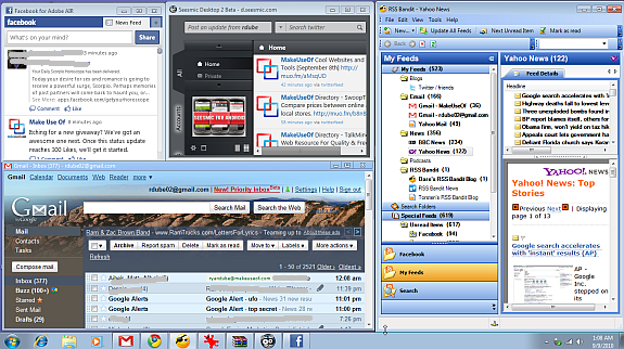 multiple desktops windows 7