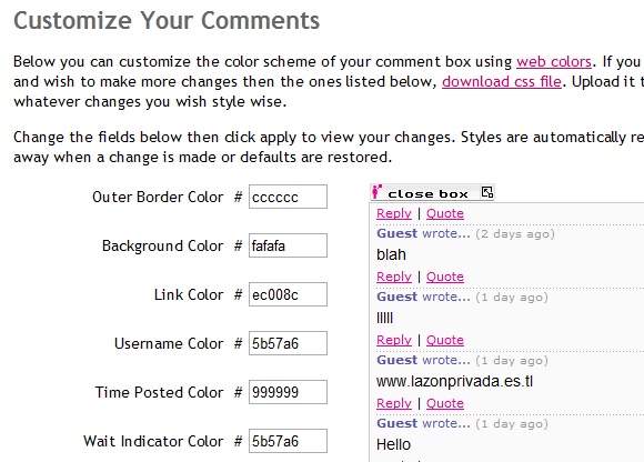 instacomment   InstaComment: Free Instant Comment System For Your Website
