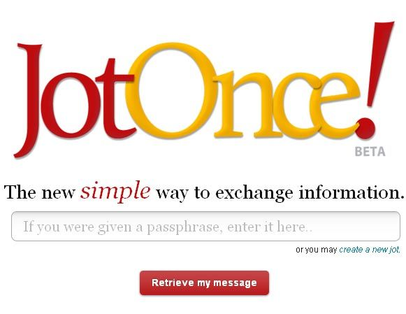 jotonce   JotOnce: Store Text Online & Share Easily & Securely