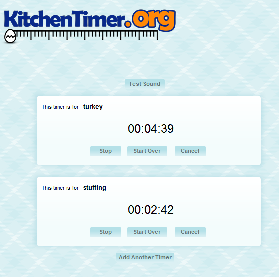 timers for cooking