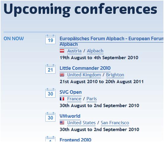 find conferences