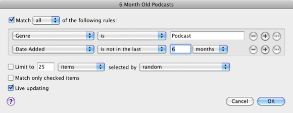 organize podcasts