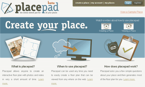 placepad   Placepad: Quickly & Easily Sketch House Plans Online