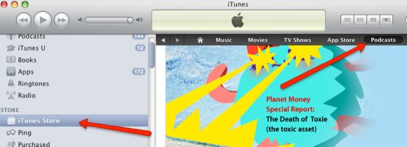 how to manage podcasts in itunes