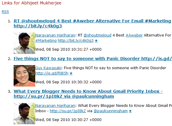 rss feeds for twitter