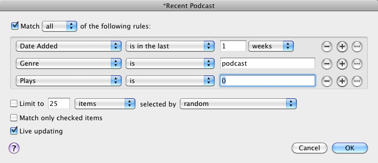 manage podcasts