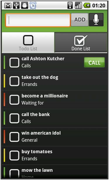 android voice to do list