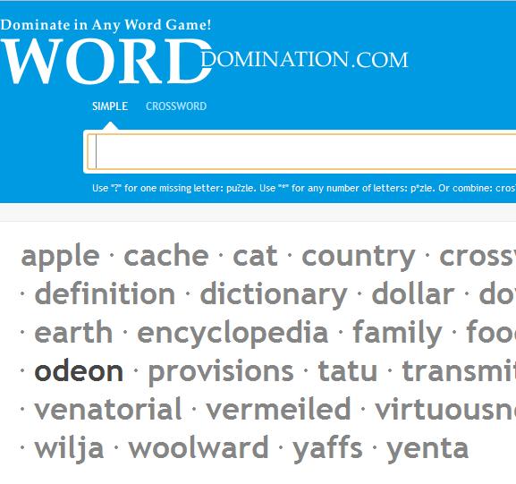word finding website