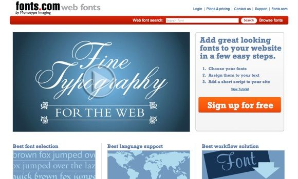 web page fonts
