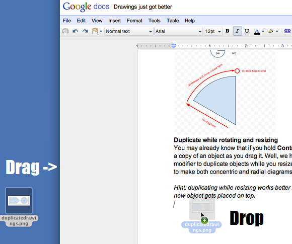 Now You Can Drag & Drop Images Into Google Docs [News] 1 dragndrop start