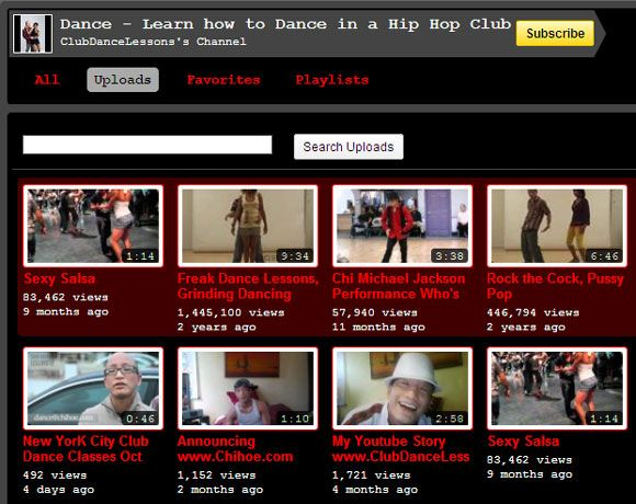 youtube dance lessons