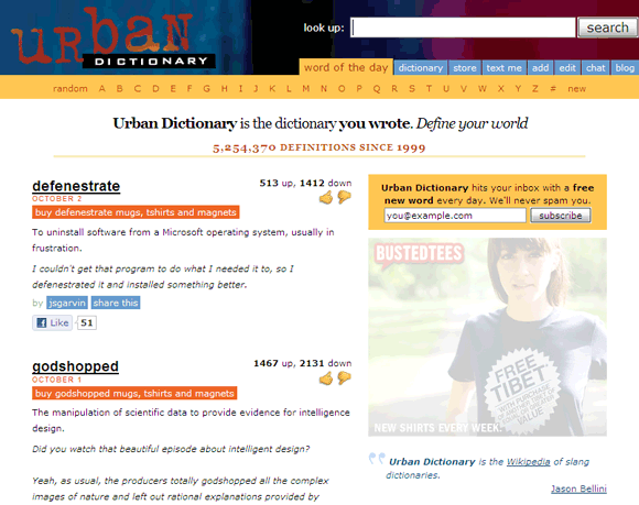 static urban dictionary