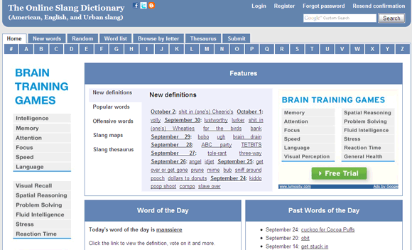 online slang dictionary