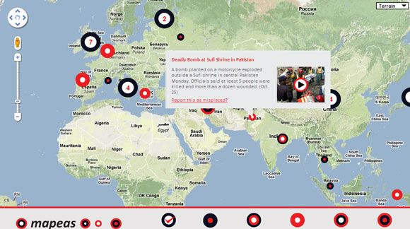 Catch the news on a world map with these 7 map based news aggregators map based news gumiabroncs Choice Image