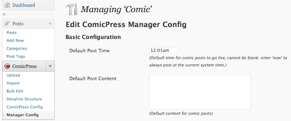 How to Create a WordPress-Powered Webcomic With ComicPress Screen shot 2010 10 23 at 17