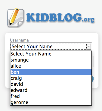 How to Get a Classroom of Kids Blogging in Under 5 Minutes! Select Your Name