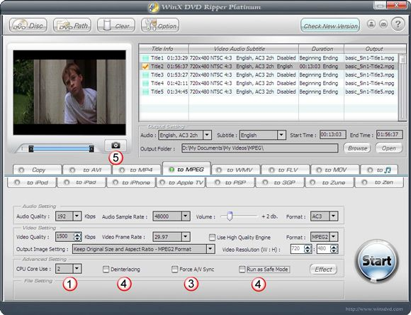 WinX DVD Ripper Platinum - Backup Your DVD in 5 Mins [Giveaway] WinX DVD Ripper03