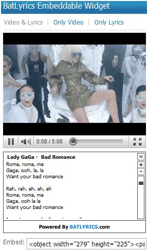 batlyrics2   Batlyrics: Cool Lyrics Website With Music Videos