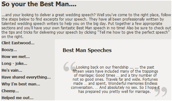 really good wedding speeches