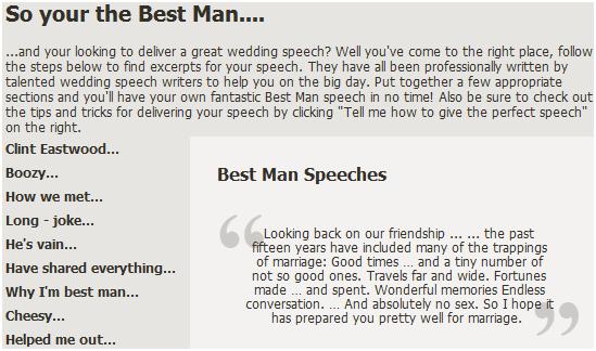 really good wedding speeches