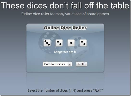 roll virtual dice