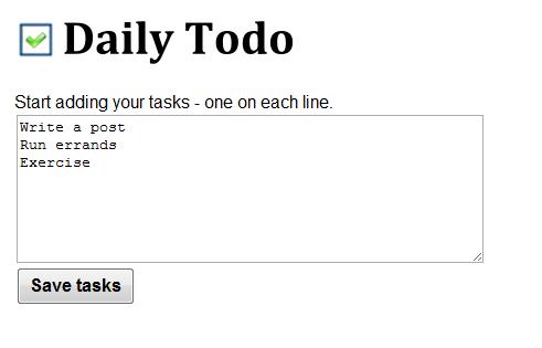 track daily tasks