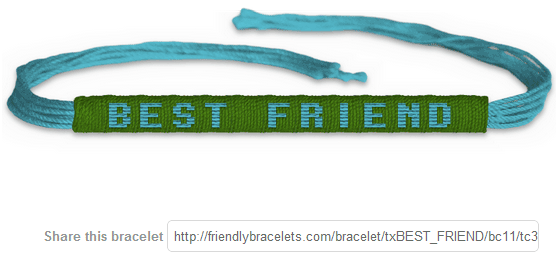 customized friendship bracelets