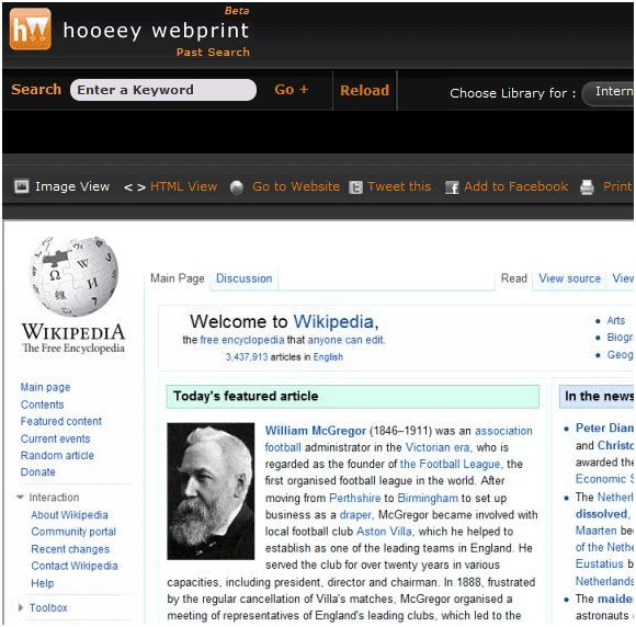 software to capture websites