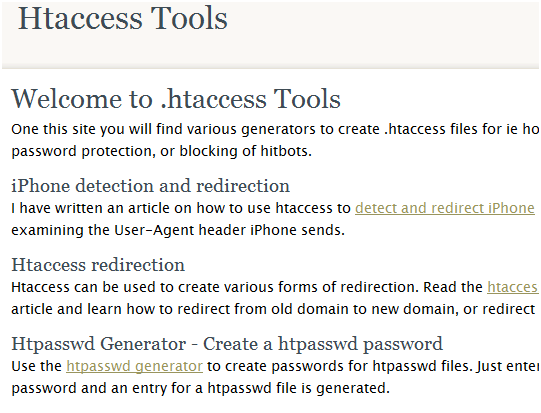 htaccess tools