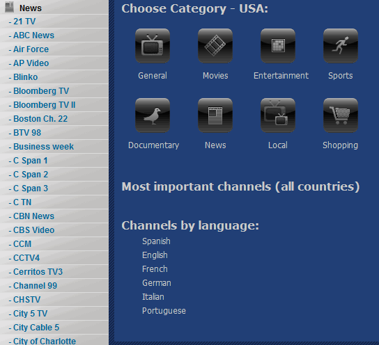 tv streams directory