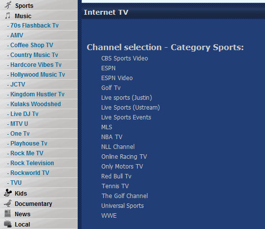 LookForTV: Extensive directory of TV channels from around the world image thumb18