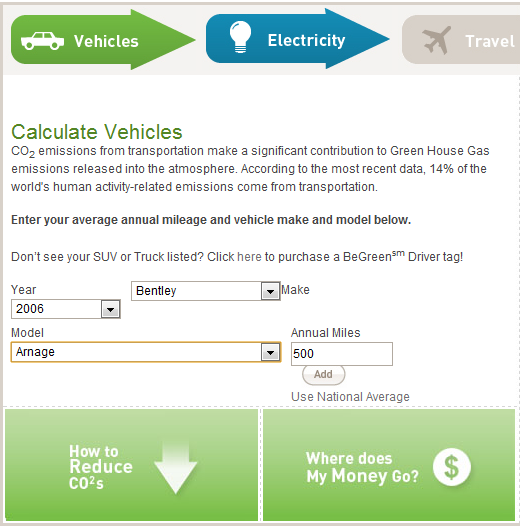 calculate personal carbon footprint