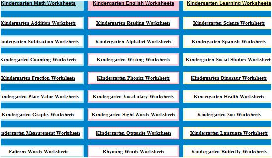 kindergarten worksheets   KindergartenWorksheets: Free Print Out Worksheets For Kids