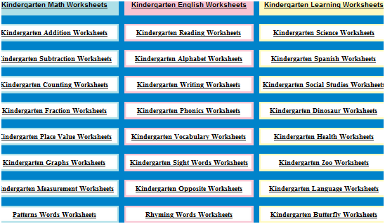 kindergarten worksheets   KindergartenWorksheets: Free Print Out Worksheets For Kids